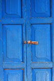 Color wood door Royalty Free Stock Photography