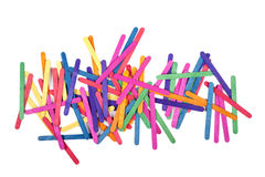 Color wood ice-cream stick art and abstract background Stock Photo