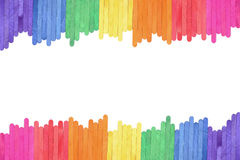 Color wood ice-cream stick frame background Royalty Free Stock Images