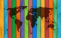 Color wood map Royalty Free Stock Photography