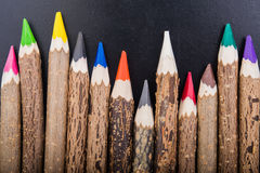 Color wood pencils Stock Images