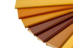 Color Wood Samples Royalty Free Stock Photography