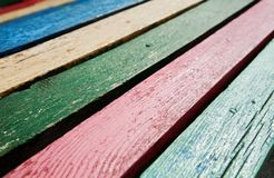 Color wooden boards Stock Photography