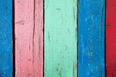 Color wooden boards background Stock Photos