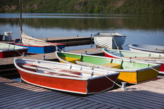 Color Wooden Boats Stock Photo