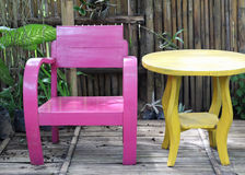 Color wooden chair set. Stock Images