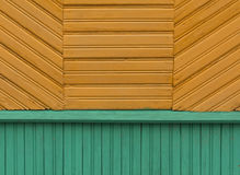 Color wooden house wall pattern. Royalty Free Stock Image
