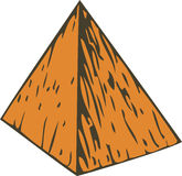 Color Wooden Pyramid. Orange Wooden Pyramid. Isolated on White background Royalty Free Stock Photography