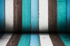 Color wooden room Stock Images