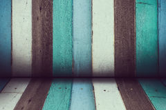 Color wooden room Royalty Free Stock Photos