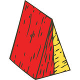 Color Wooden Triangular Prism Royalty Free Stock Photo