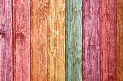 Color wooden wall Stock Photography