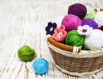 Color woolen clews Stock Images