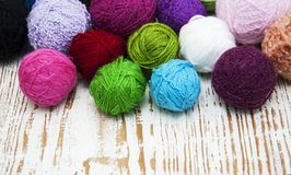 Color woolen clews Royalty Free Stock Images