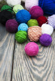 Color woolen clews Royalty Free Stock Photo