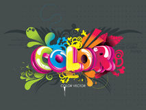Color word Royalty Free Stock Photos