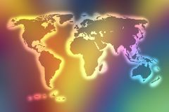 Color world map Stock Photos