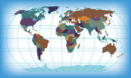 Color world map. Abstract background Royalty Free Stock Photo