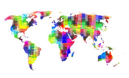 Color World map Stock Image