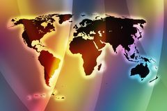 Color world map II Royalty Free Stock Images
