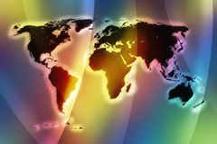 Color world map III Stock Photo