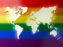 Color World Map Stock Photo