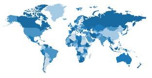Color world map. Political map. stock illustration
