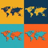 Color World Maps. Flat style. Vector illustration. Stock Photography