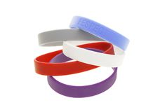 Color wrist bands Royalty Free Stock Photo