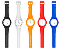 Color wristwatch Stock Photo