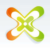 Color X. Cool Color X Vector Drawing Royalty Free Stock Image