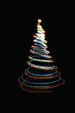 Color xmas tree. Xmas tree (lights) on the black background Royalty Free Stock Photography