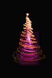 Color xmas tree. Xmas tree (lights) on the black background Royalty Free Stock Images