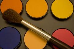 Color y cepillo de agua Imagen de archivo libre de regalías