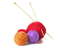 Color yarn balls Stock Image