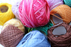 Color yarn Stock Photos