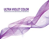 Purple violet smoke line abstract background Royalty Free Stock Photography
