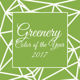 Color of the year 2017 infographic. Color of the year 2017 greenery in triangular style royalty free illustration