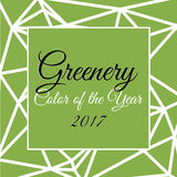 Color of the year 2017 infographic. Color of the year 2017 greenery in triangular style vector illustration