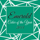 Color of the year 2013 infographic. Color of the year 2013 with name Emerald Royalty Free Illustration