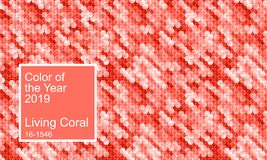 Color of the year 2019. Living coral color abstract vector background stock illustration