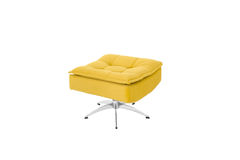 Color Yellow Sofa Armchair isolated on white background royalty free stock images
