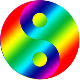 Color ying yang Royalty Free Stock Photography