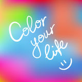 Color your life Royalty Free Stock Images