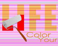 Color your life poster Stock Photography
