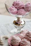 Color zephyrs in glass jar Stock Image