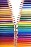 Color zipper Royalty Free Stock Images
