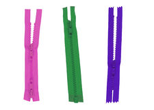 Color Zippers Stock Photography