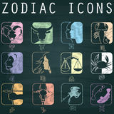 Color zodiac icons Royalty Free Stock Photo
