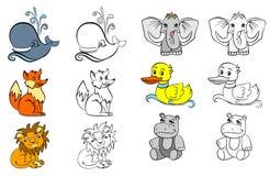 Coloração com animais Imagem de Stock Royalty Free